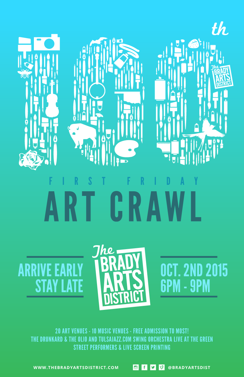 Brady Arts District 100th First Friday Poster